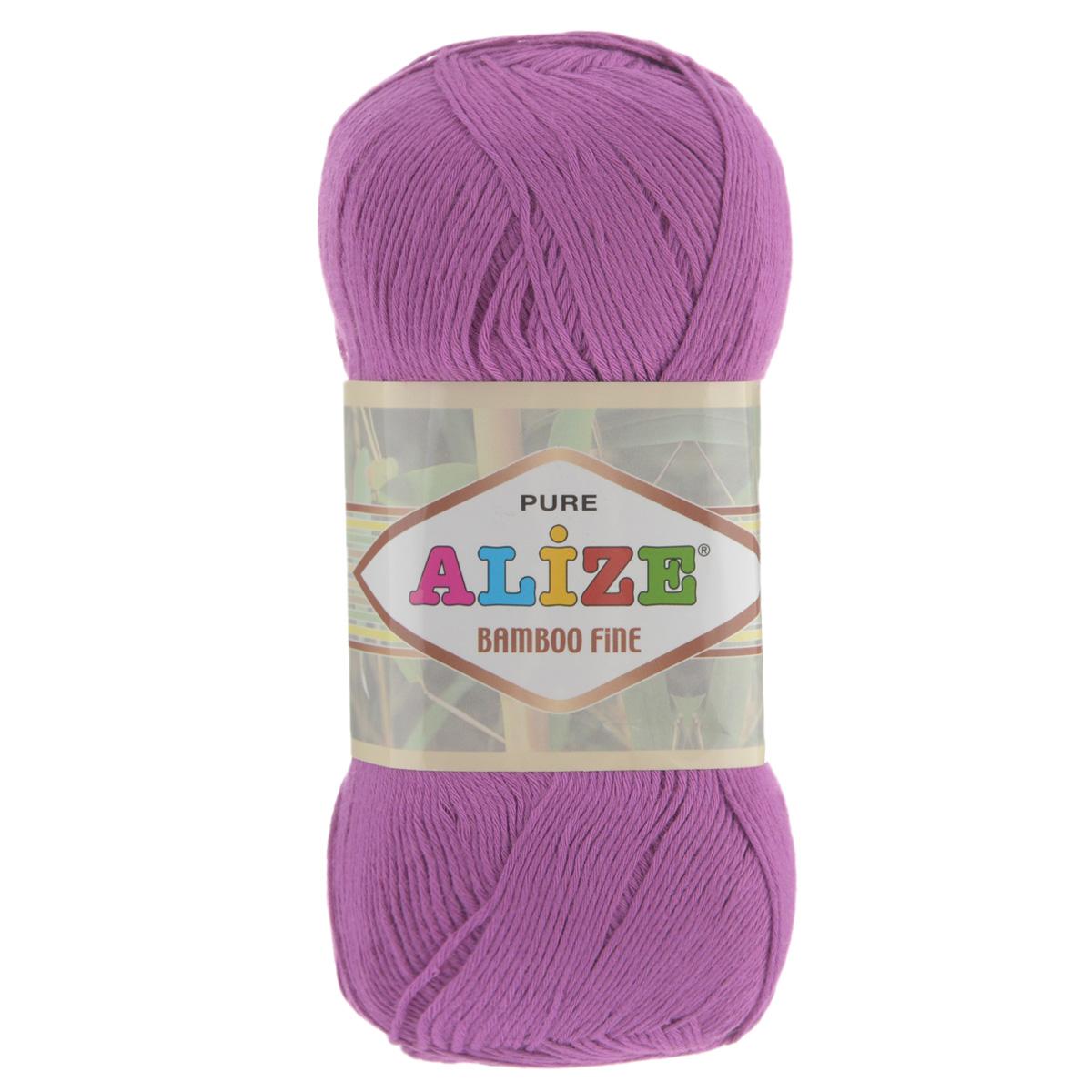 Пряжа для вязания Alize Bamboo Fine, цвет: светлая фуксия (46), 440 м, 100 г, 5 шт пряжа для вязания alize bamboo fine цвет зеленый синий фиолетовый 3260 440 м 100 г 5 шт