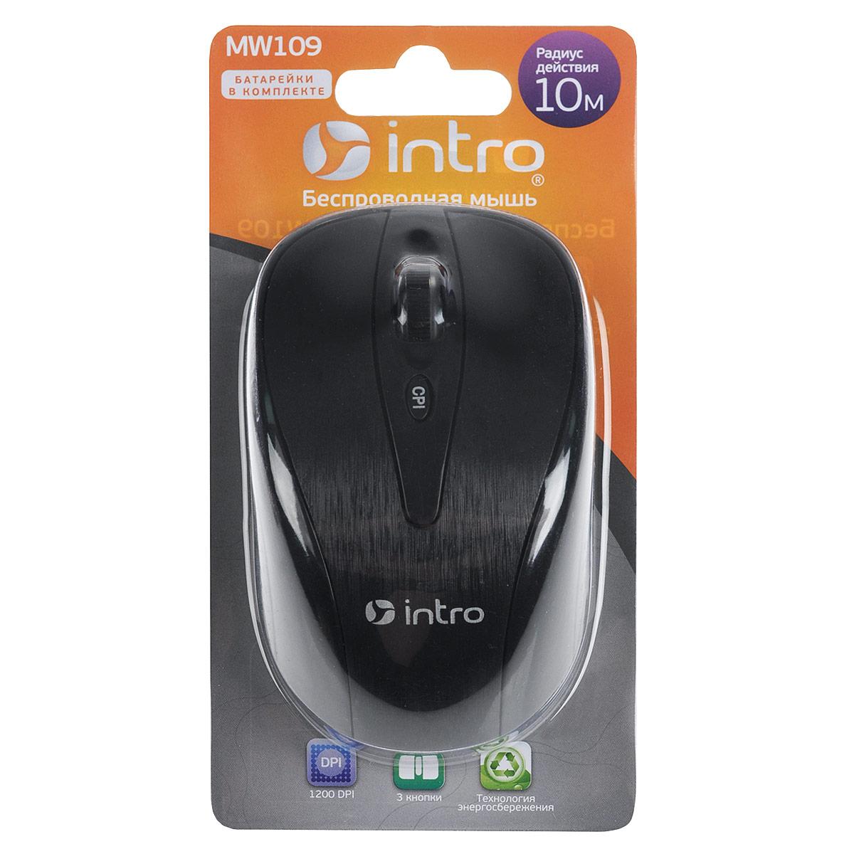 Мышь Intro MW109 Wireless intro мышь intro mw605x capsense wireless black