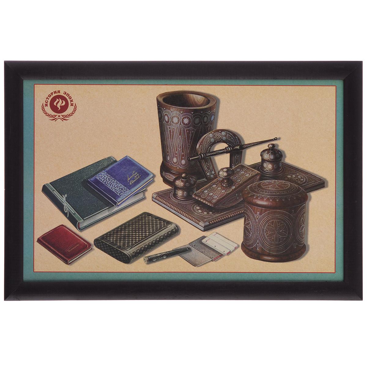 канцелярия Поднос-столик Феникс-презент Ретро-канцелярия, с мягким основанием, 41 х 28 см 37376