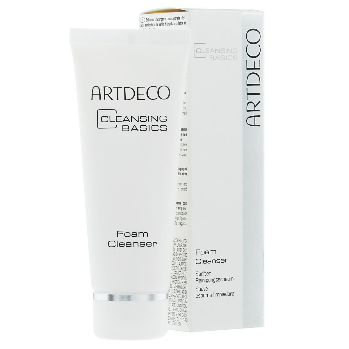ARTDECO Пенка для умывания Pure Minerals Foam Cleanser, 75 мл воздушная пенка для умывания micro foam cleanser 200 мл steblanc cleanser