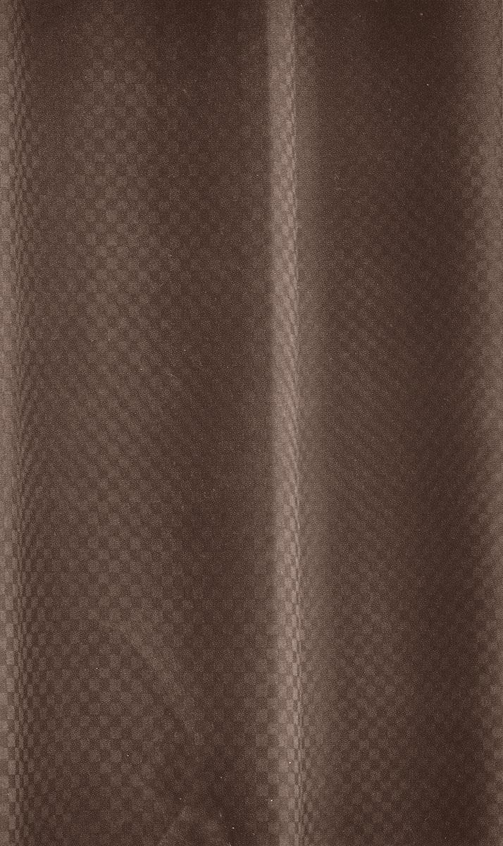 Штора для ванной комнаты White Fox Шахматка, цвет: шоколадный, 180 см х 200 см цена