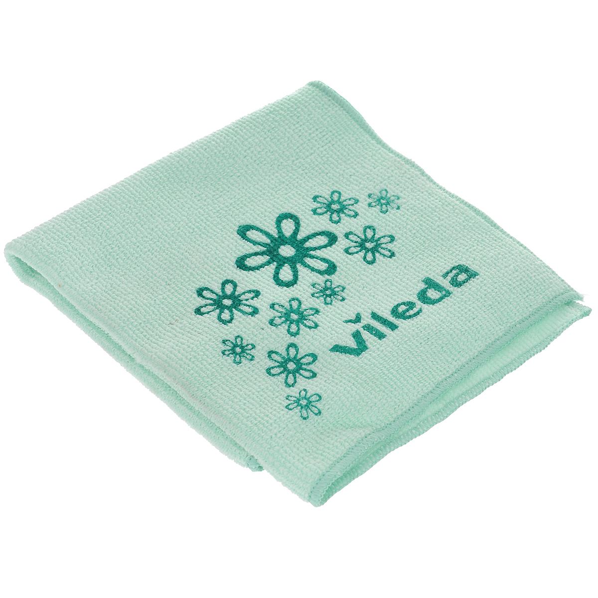 Салфетка универсальная Vileda Микрофибра, цвет: зеленый, 32 х 32 см салфетка golden snail микрофибра универсальная 141 gs0322 40 х 60 см