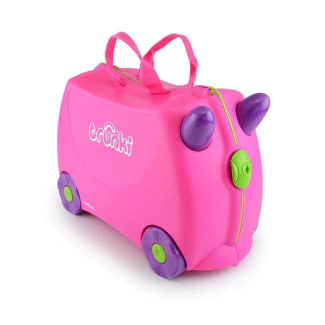 Trunki Чемодан-каталка цвет розовый фиолетовый детские чемоданы trunki детская каталка чемодан taxi tony тони таксист