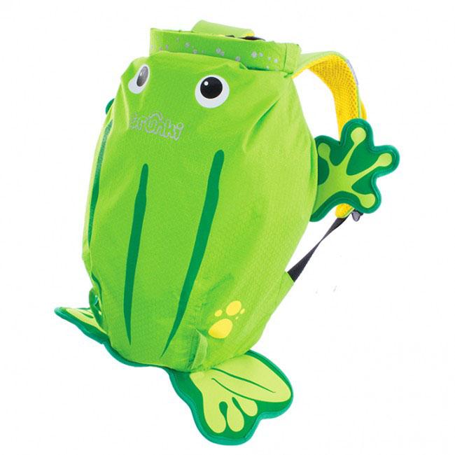 Детский рюкзак для бассейна и пляжа Trunki Лягушка, цвет: салатовый, желтый, 7,5 л детский рюкзак для бассейна и пляжа trunki осьминог цвет фиолетовый салатовый 7 5 л