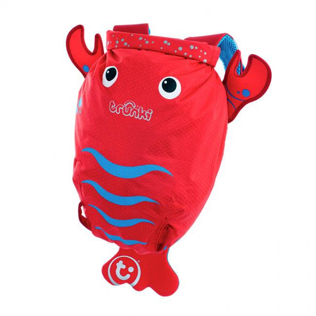 Детский рюкзак для бассейна и пляжа Trunki Лобстер, цвет: красный, голубой, 7,5 л детский рюкзак для бассейна и пляжа trunki осьминог цвет фиолетовый салатовый 7 5 л