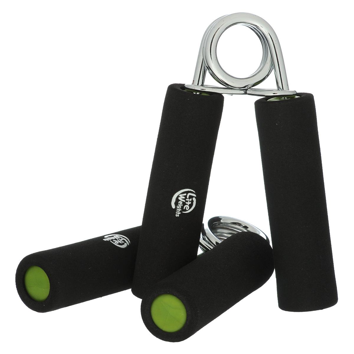 Эспандер кистевой Lite Weights, цвет: черный, 2 шт цена