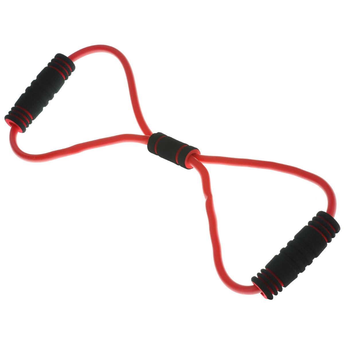 Эспандер-восьмерка грудной Lite Weights, одинарный, цвет: красный, черный цена