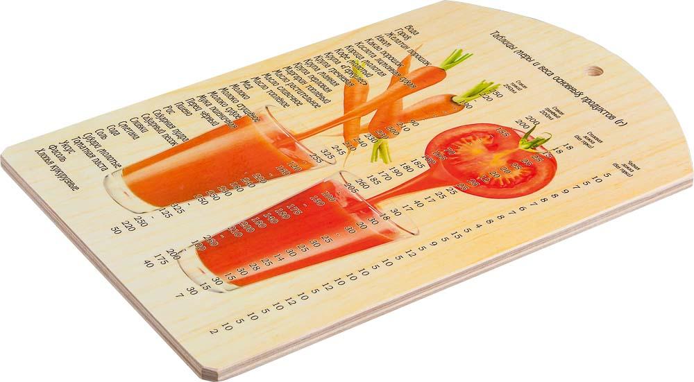 Доска разделочная Marmiton Овощной коктейль, 28,5 см х 18,5 см доска разделочная marmiton птичий двор 17088