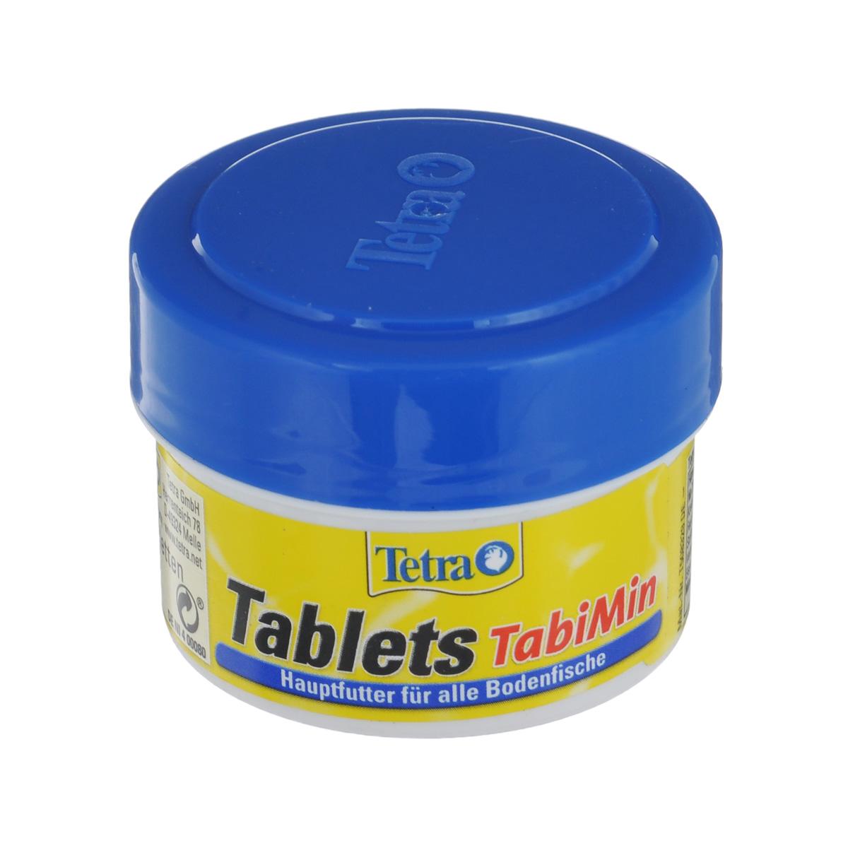 Корм сухой Tetra Tablets TabiMin, для всех видов донных рыб, 58 таблеток tetra tabimin