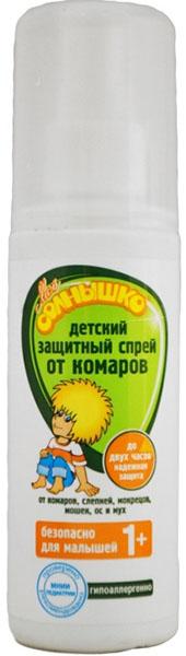 Мое солнышко Спрей детский от комаров, защитный, 100 мл спрей тайга от комаров 125мл
