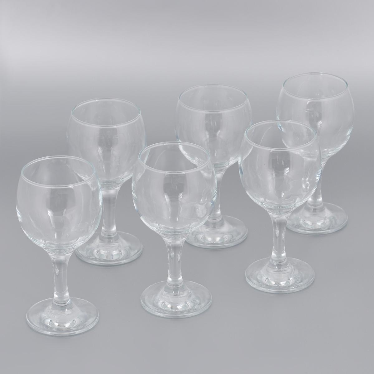 Фото - Набор бокалов для красного вина Pasabahce Bistro, 225 мл, 6 шт набор бокалов для мартини pasabahce bistro 170 мл