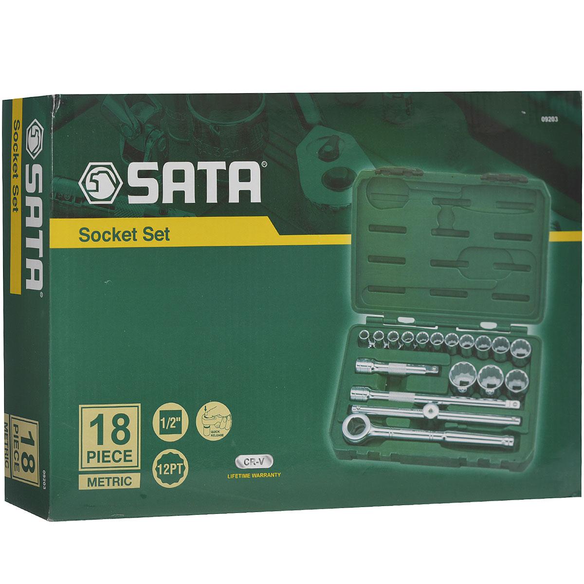 Набор торцевых головок SATA 18пр. 09203 набор инструментов sata sata 26 предметов 09502