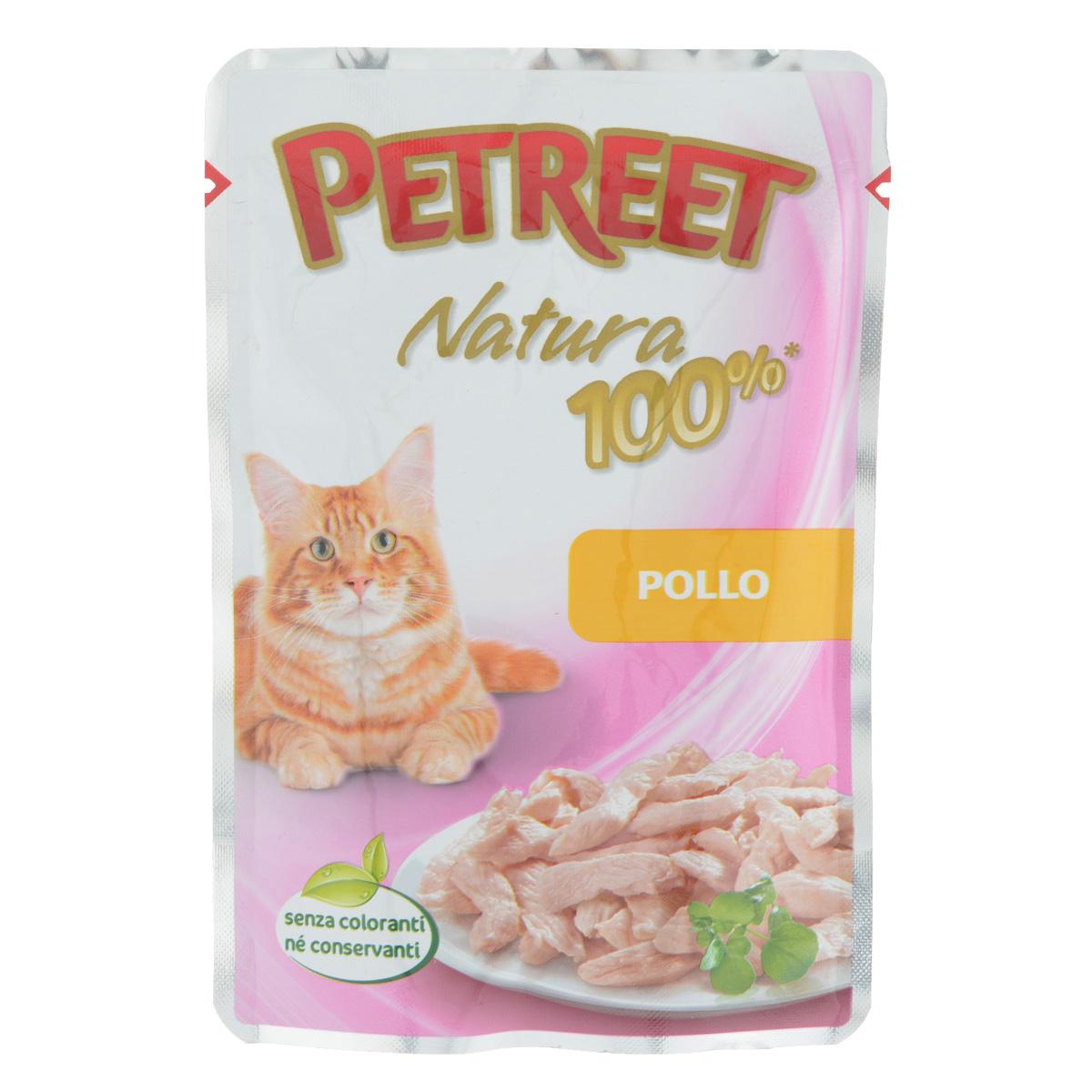 """Консервы для кошек """"Petreet"""", с курицей, 85 г"""