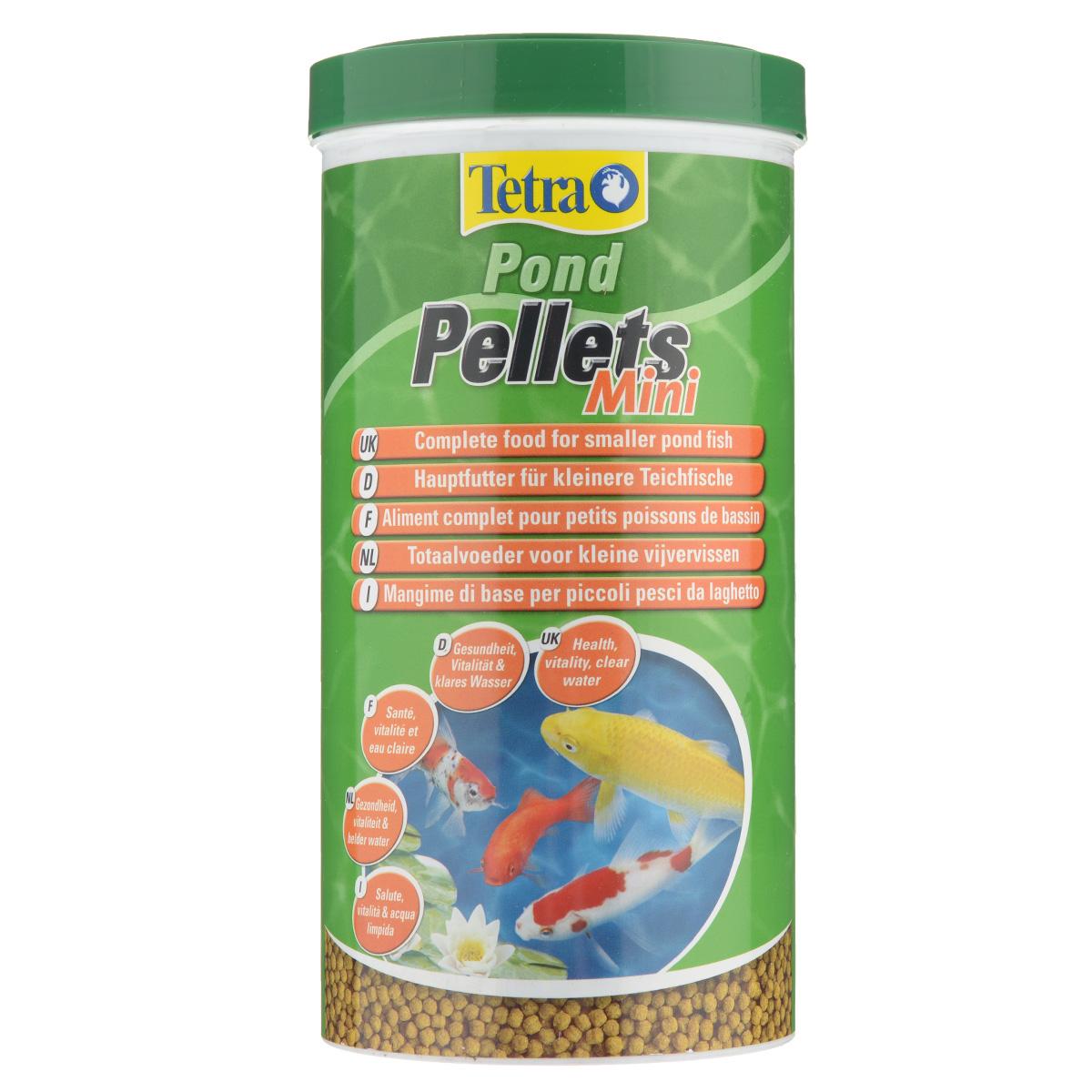 Корм сухой Tetra Pond Pellets Mini для всех видов прудовых рыб, в виде шариков, 1 л193826Корм Tetra Pond Pellets Mini - это идеальный корм в виде шариков для всех видов прудовых рыб длиной до 20 см. Обеспечивает полноценное и сбалансированное питание. быстро размягчается в воде и легко переваривается рыбами, обеспечивает небольшое количество отходов и не загрязняет воду. Рекомендации по кормлению: кормите не менее 2-3 раз в день в таком количестве, которое ваши рыбы могут съесть в течение нескольких минут. Характеристики: Состав: зерновые культуры, экстракты растительного белка, растительные продукты, рыба и побочные рыбные продукты, дрожжи, масла и жиры, водоросли, минеральные вещества. Пищевая ценность: сырой белок - 28%, сырые масла и жиры - 3.5%, сырая клетчатка - 2%, влага - 7%. Добавки: витамины, провитамины и химические вещества с аналогичным воздействием, витамин А 28800 МЕ/кг, витамин Д3 1800 МЕ/кг. Комбинации элементов: Е5 Марганец 74 мг/кг, Е6 Цинк 44 мг/кг, Е1 Железо 29 мг/кг, Е3 Кобальт 0,5 мг/кг. Красители, антиоксиданты. Вес: 1000 мл (260 г).