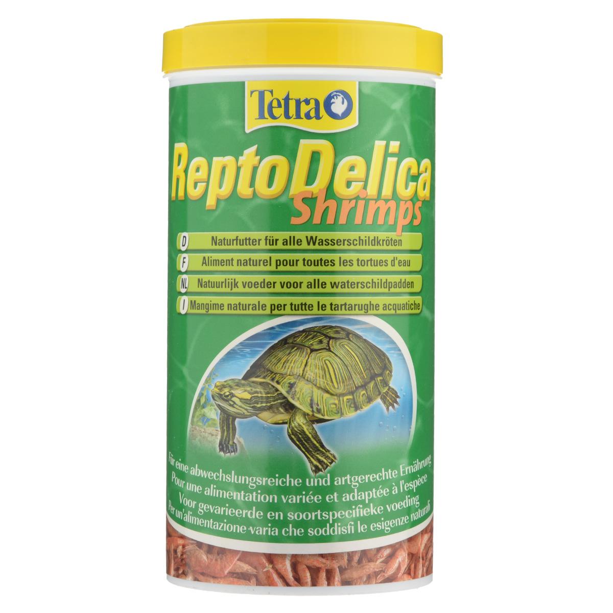 Корм-лакомство для водных черепах Tetra ReptoDelica Shrimps, креветки, 1 л корм tetra reptodelica shrimps natural food for all water turtles креветки для всех видов водных черепах 1л