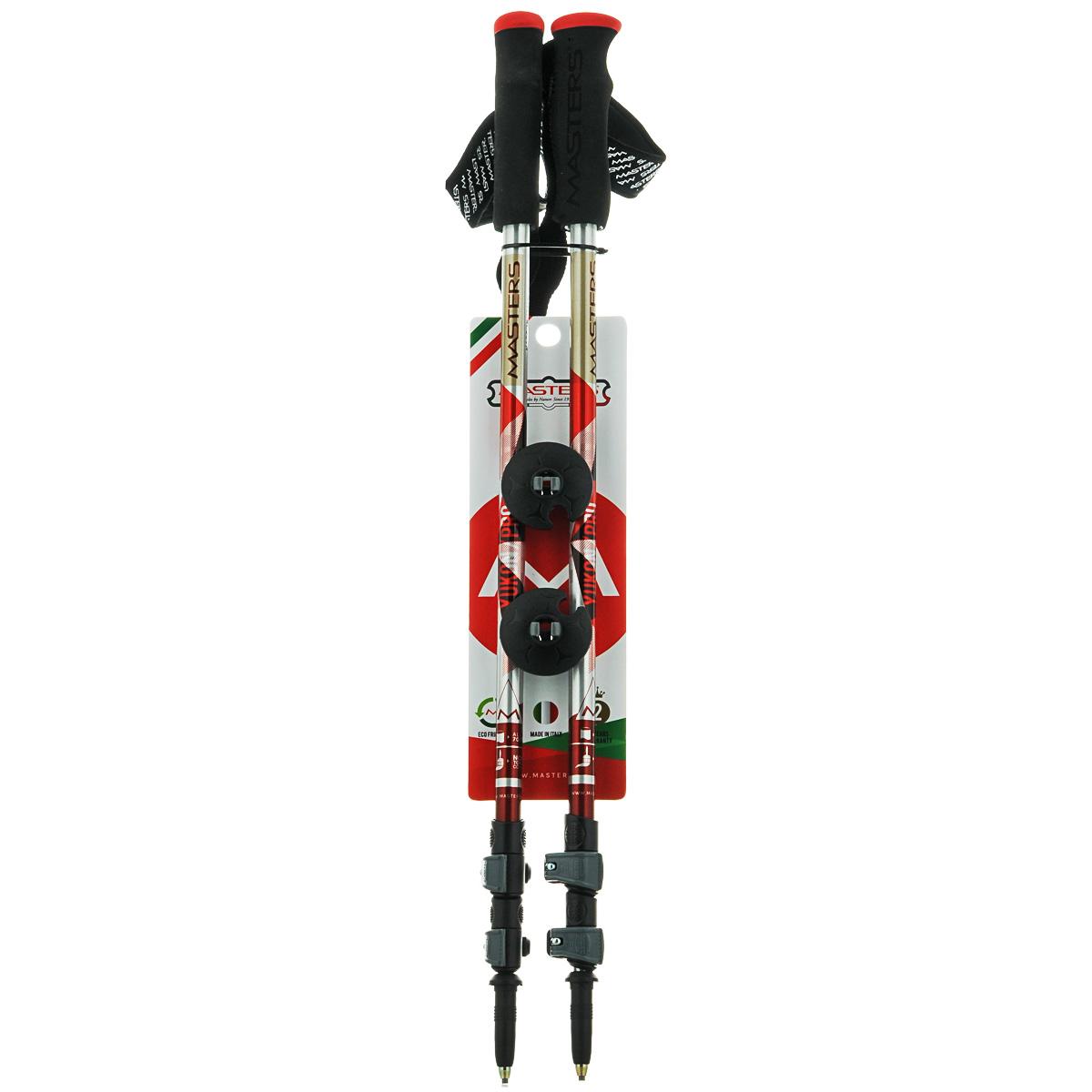 Палки для трекинга Masters Yukon Pro, телескопические, 65-135 см