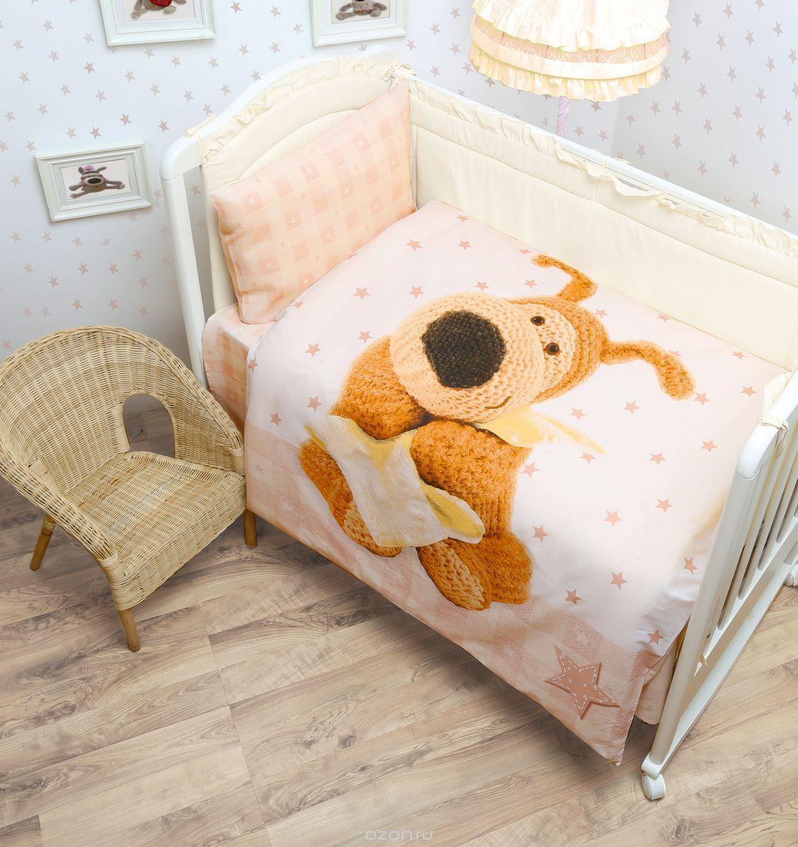 Mona Liza Текстиль Комплект постельного белья детский Boofle Baby цвет бежевый
