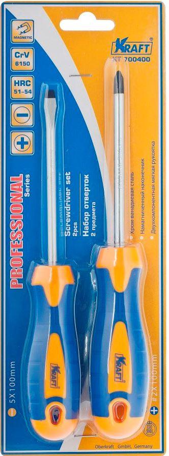 Фото - Набор отверток Kraft Professional, 2 шт набор отверток kraft professional 2 шт