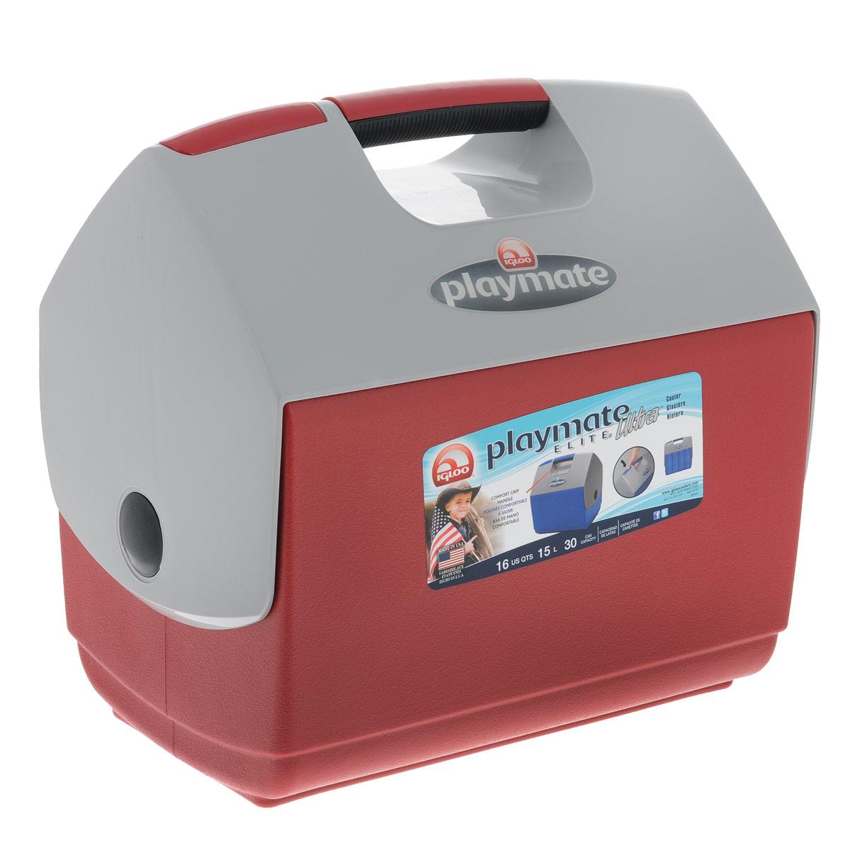 Изотермический контейнер Igloo Playmate Elite Ultra, цвет: красный, 15 л igloo изотермический контейнер igloo playmate pal jucetwh
