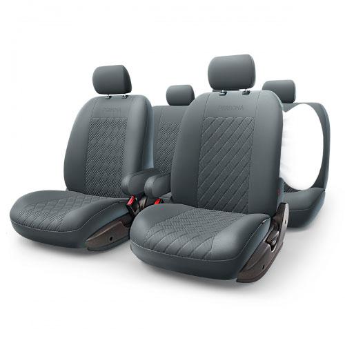 цена на Авточехлы Autoprofi Persona Full, цвет: черный, 13 предметов. Размер M
