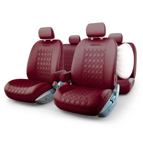 цена на Авточехлы Autoprofi Persona Full, цвет: вишневый, 13 предметов. Размер M