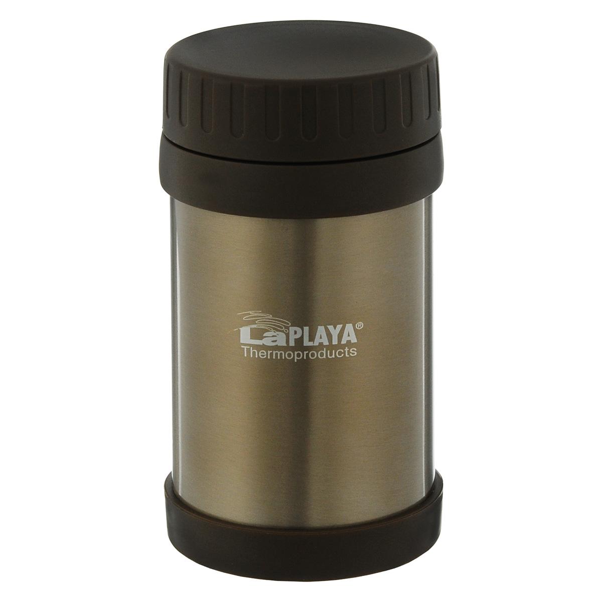Термос для еды LaPlaya Food Container, цвет: коричневый, 500 мл