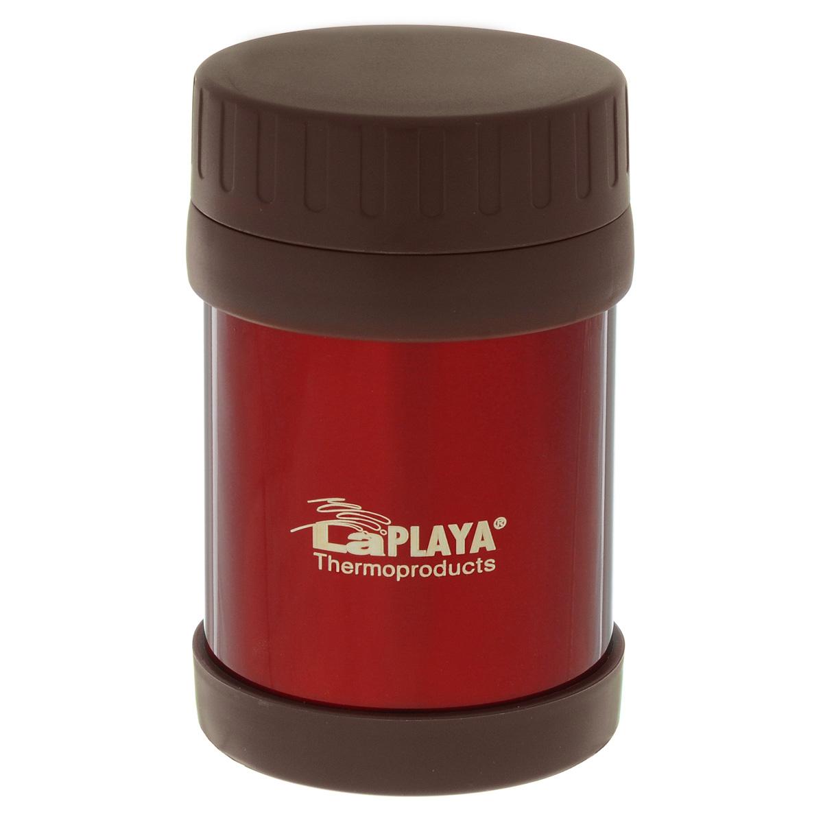Термос для еды LaPlaya Food Container, цвет: красный, 350 мл