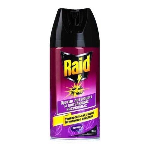 Аэрозоль Raid против летающих и ползающих насекомых, с ароматом лаванды, 300 мл рейд аэрозоль мгновенного действия против летающих ползающих насекомых 300мл лаванда