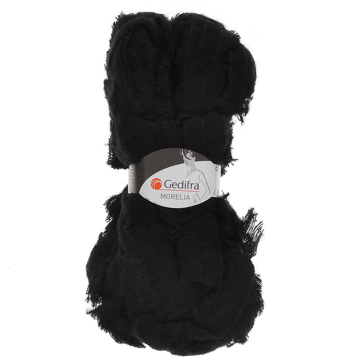 Пряжа для вязания Gedifra Morelia, цвет: черный (01414), 36 м, 100 г. 9811739-01414