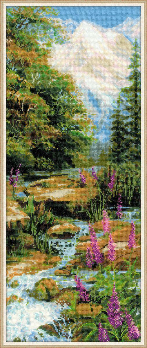 Набор для вышивания крестом Riolis Горный ручей, 20 x 50 см 1487 набор для вышивания крестом riolis такса блюз 20 x 20 см 1495