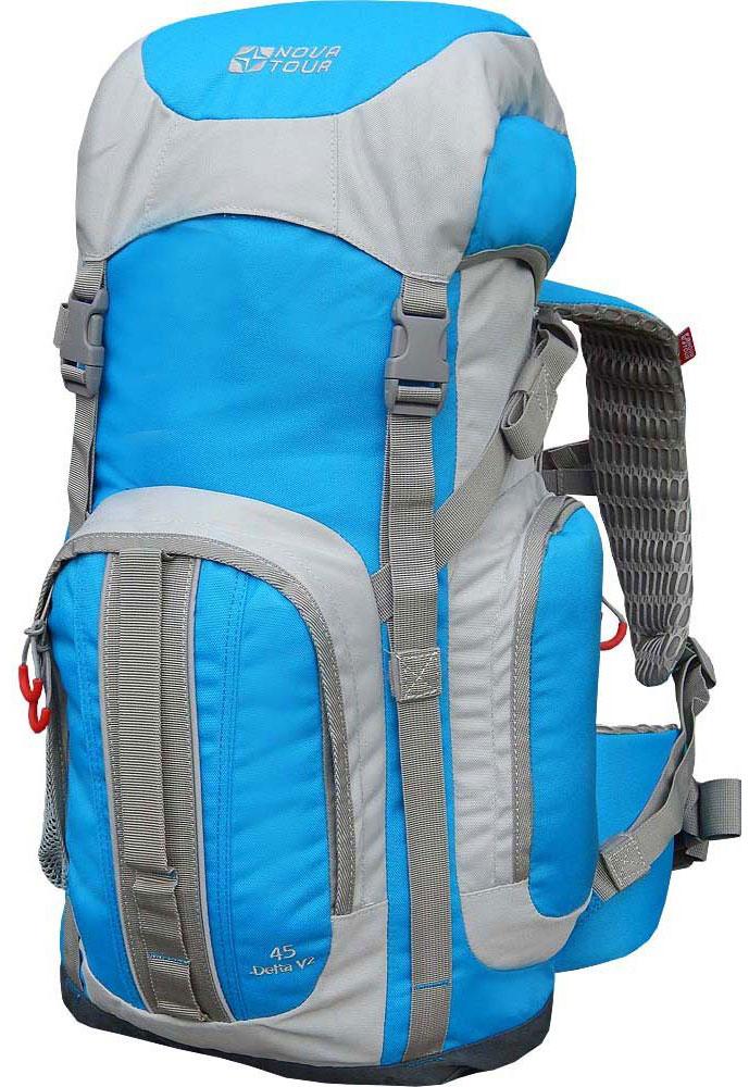 Рюкзак Nova Tour Дельта 45 V2, цвет: серый, синий, 45 л