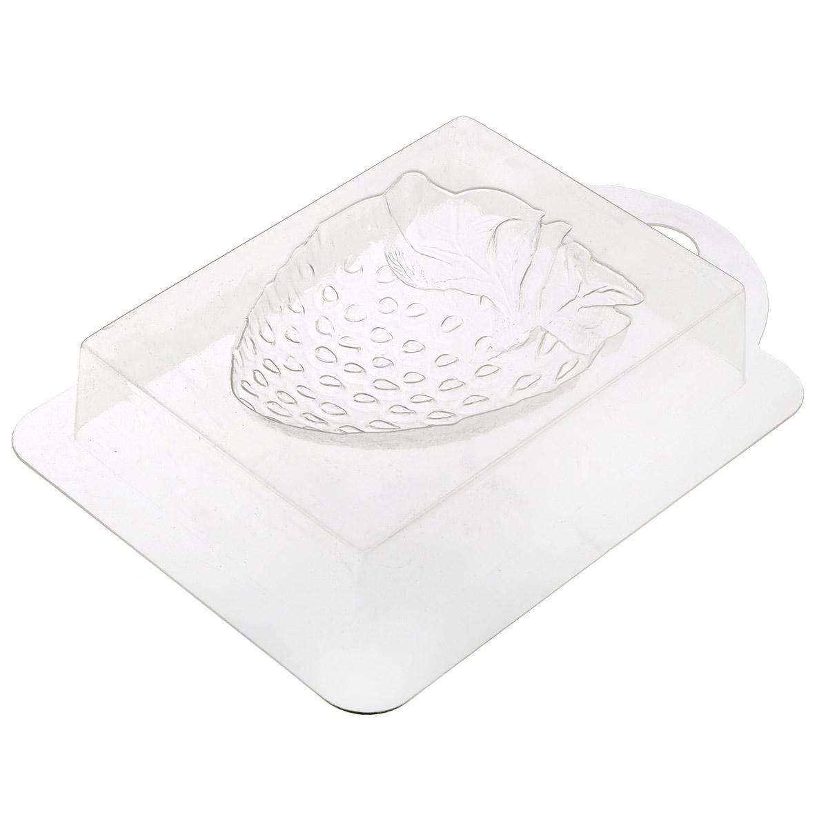 Форма пластиковая Клубника большая, профессиональная, 16 х 10,5 х 2,5 см форма для мыла выдумщики букет тюльпанов пластиковая цвет прозрачный