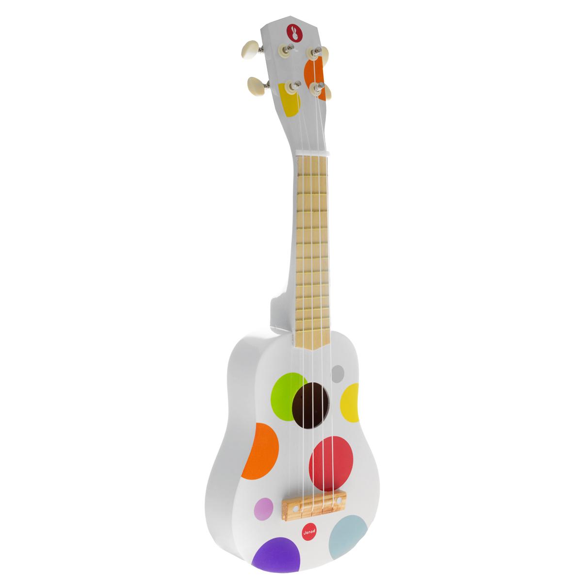 Janod Гитара гавайская цвет белый