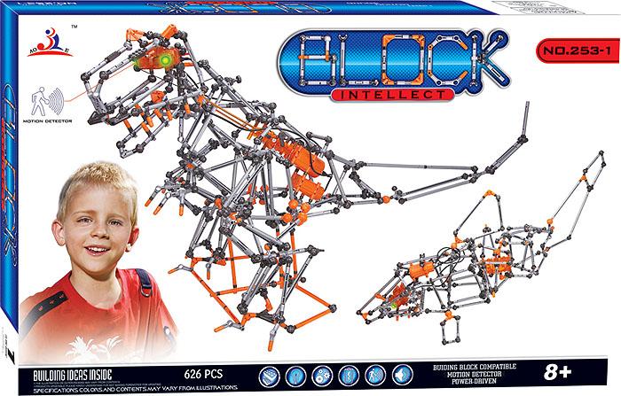 лучшая цена Intellect Block Конструктор Динозавр