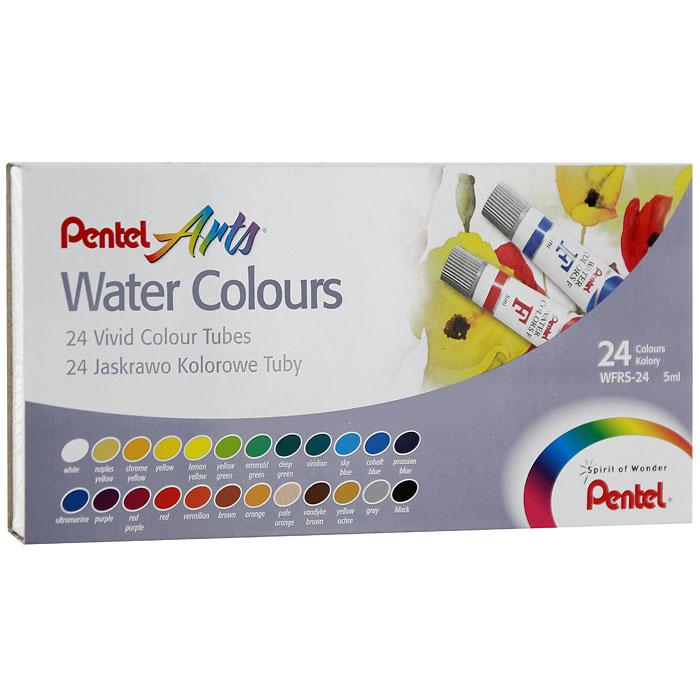 """Акварель Pentel """"Water Colours"""", 24 цвета"""