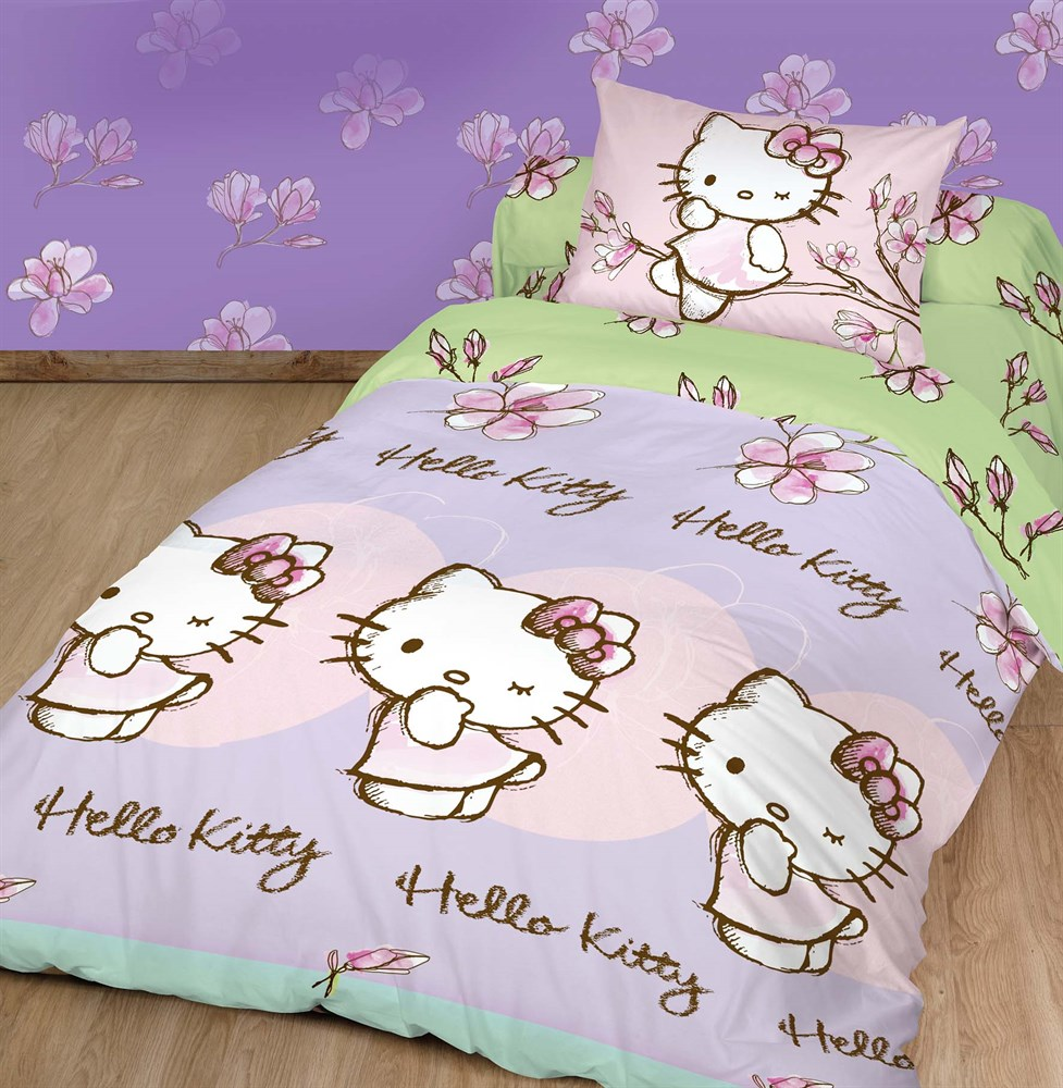 цена Комплект детского постельного белья Hello Kitty
