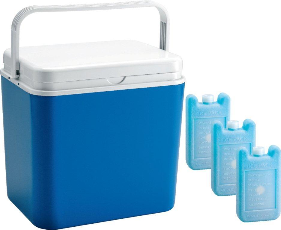 Контейнер изотермический Atlantic Cool Box, цвет: синий, 30 л + аккумулятор холода, 3 х 400 г