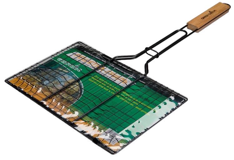 Решетка-гриль Green Glade, с антипригарным покрытием, 35 см х 23 см решетка гриль forester большая с антипригарным покрытием 26х45 см bq ns02