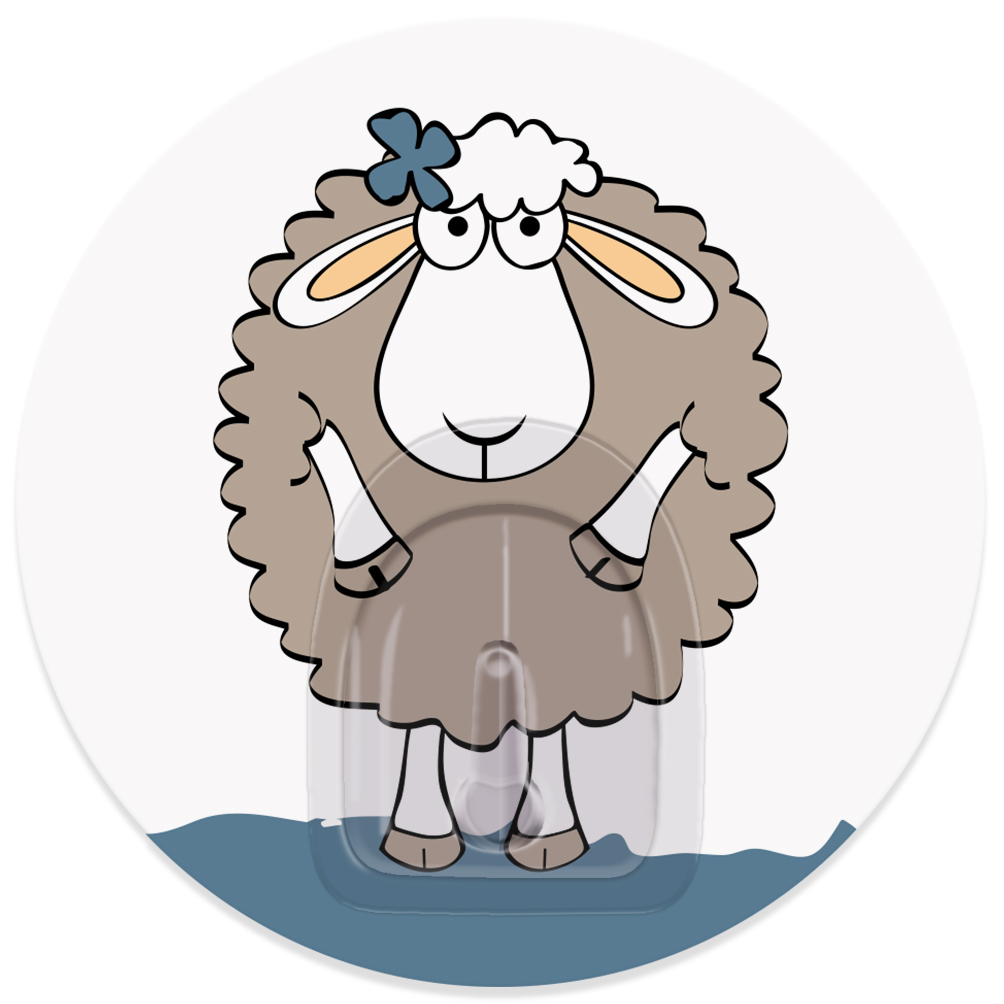 Крючок адгезивный Tatkraft Funny sheep. Dolly, диаметр 8 см18655Крючок адгезивный Tatkraft Funny sheep. Dolly изготовлен из пластика. Крючок может быть установлен только на ровной воздухонепроницаемой поверхности: плитка, стекло, пластик, металл, ламинированное дерево и другие. Крючок является многоразовым, что позволяет перевесить его в любое удобное место. Крючок Tatkraft Funny sheep. Dolly имеет авторский дизайн, который украсит любой интерьер. Диаметр крючка: 8. Максимальная нагрузка: 3 кг.