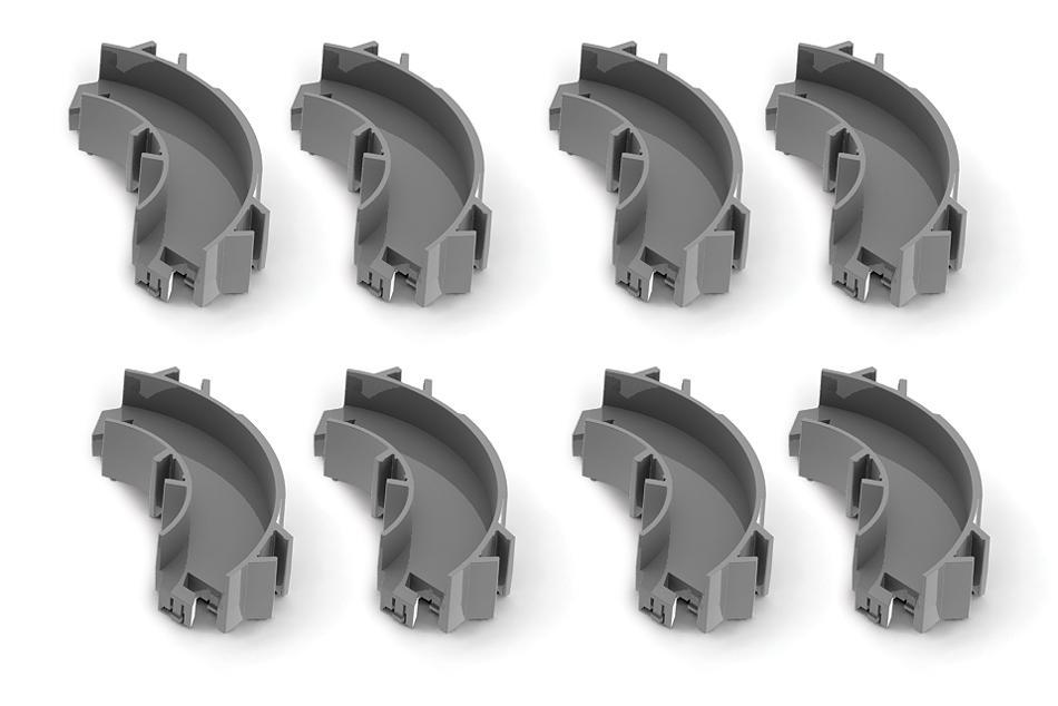 """Набор угловых элементов для нанодрома Hexbug """"Curved Parts"""""""
