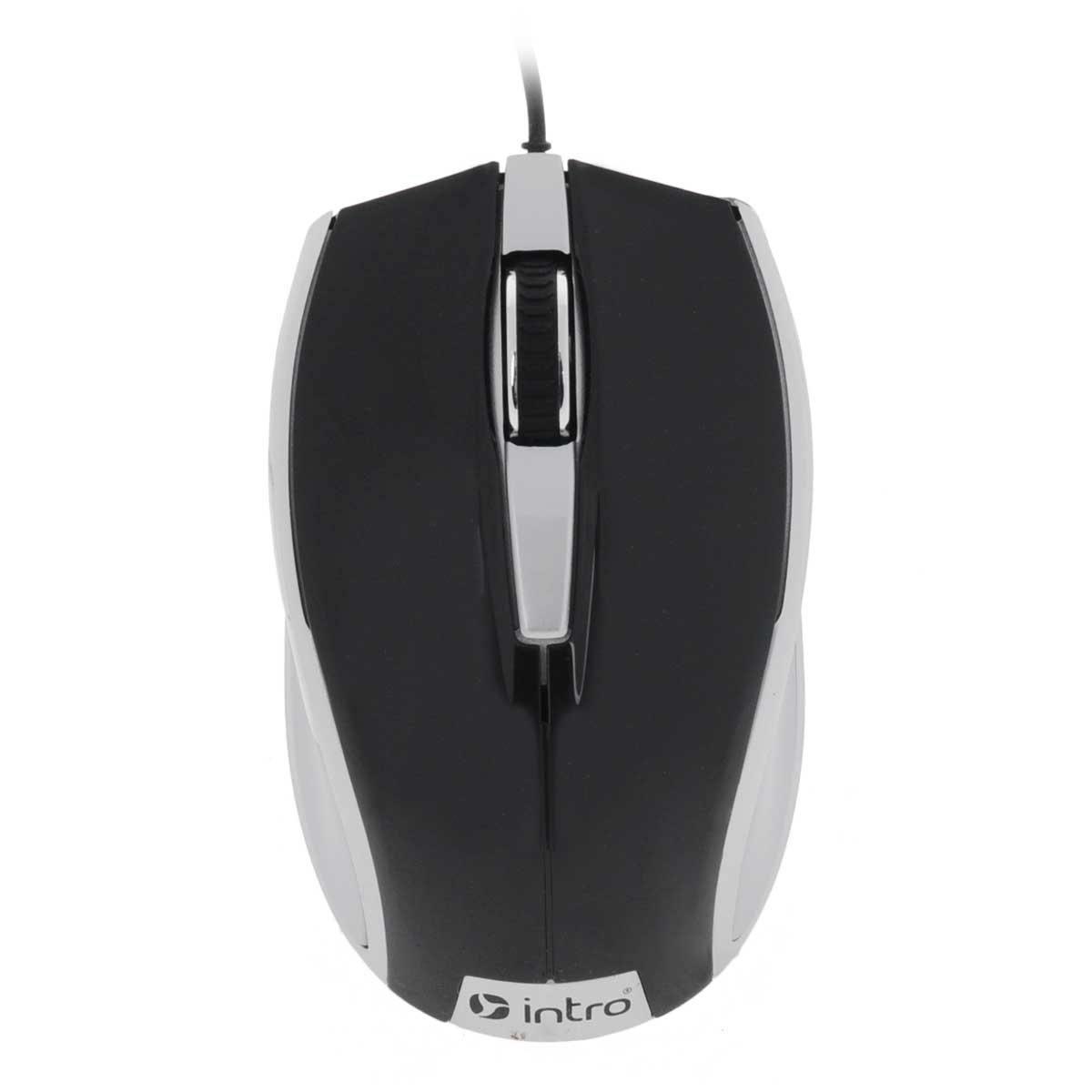 Мышь Intro MU104, Black Silver intro мышь intro mu208g gaming black usb