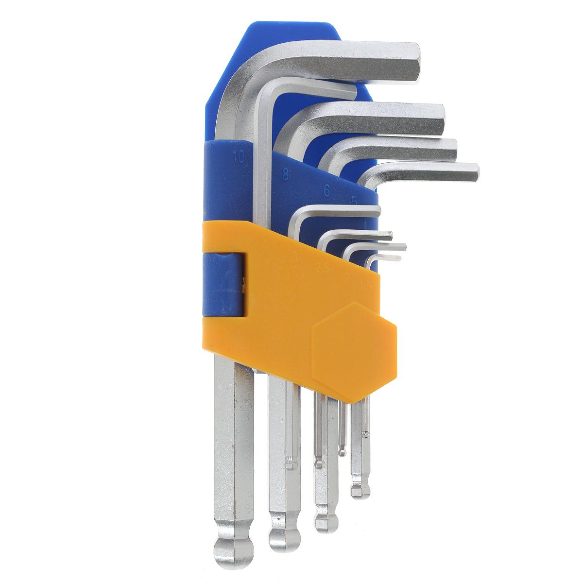 Набор ключей шестигранных Kraft Professional, коротких, с шаром, 1,5 мм - 10 мм, 9 шт цена