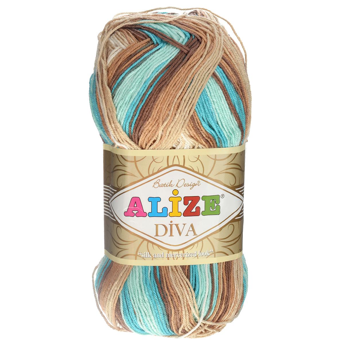 """Пряжа для вязания Alize """"Diva. Batik Design"""", цвет"""