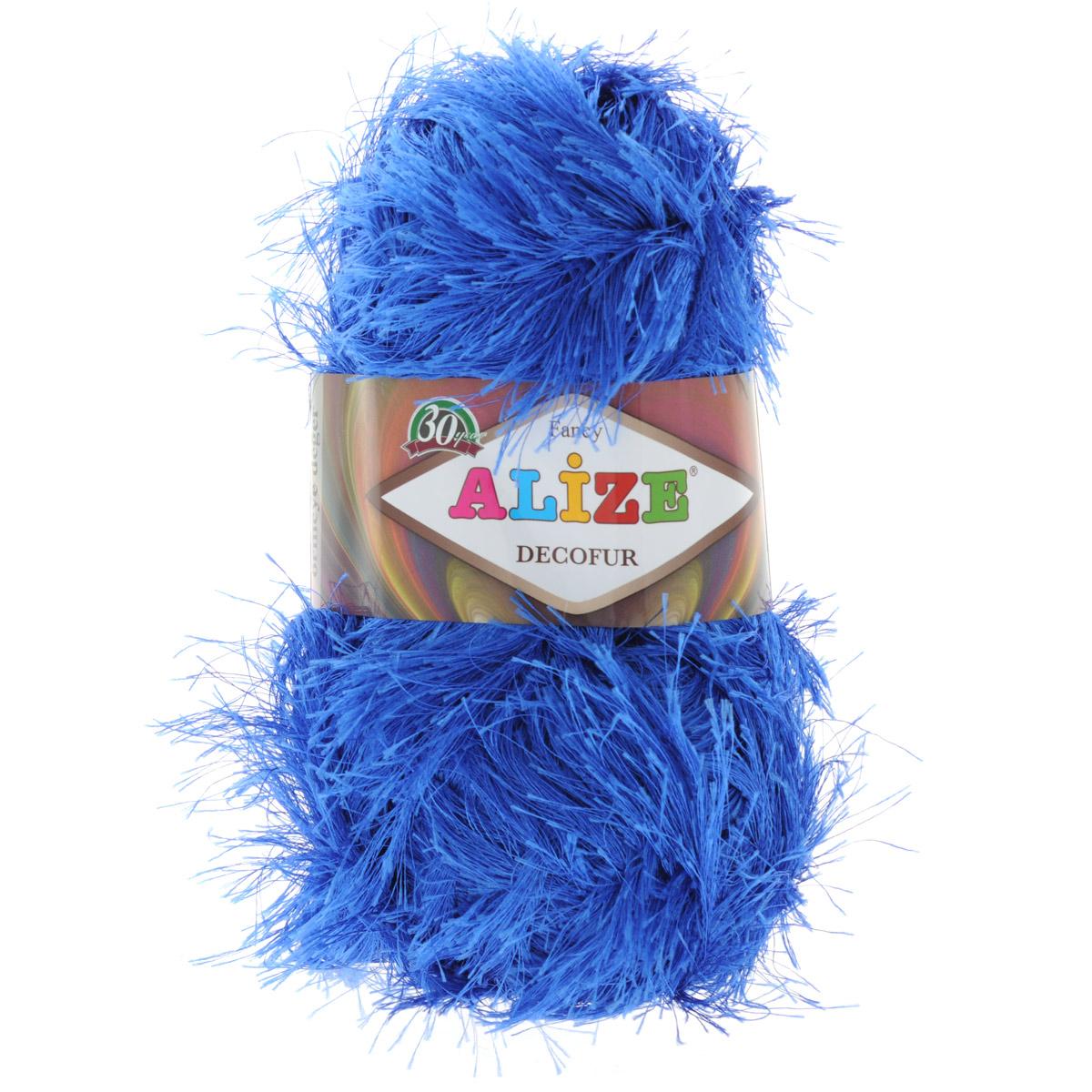 Пряжа для вязания Alize Decofur, цвет: синий (141), 110 м, 100 г, 5 шт цена