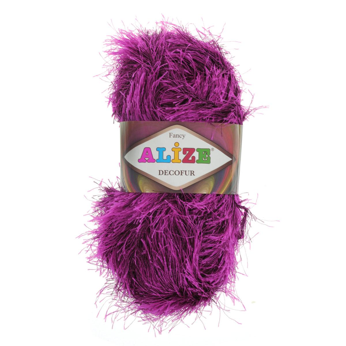 Пряжа для вязания Alize Decofur, цвет: фуксия, бордовый (1363), 110 м, 100 г, 5 шт цена