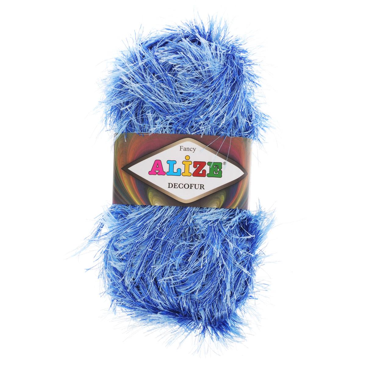 Пряжа для вязания Alize Decofur, цвет: синий, голубой (1370), 110 м, 100 г, 5 шт цена