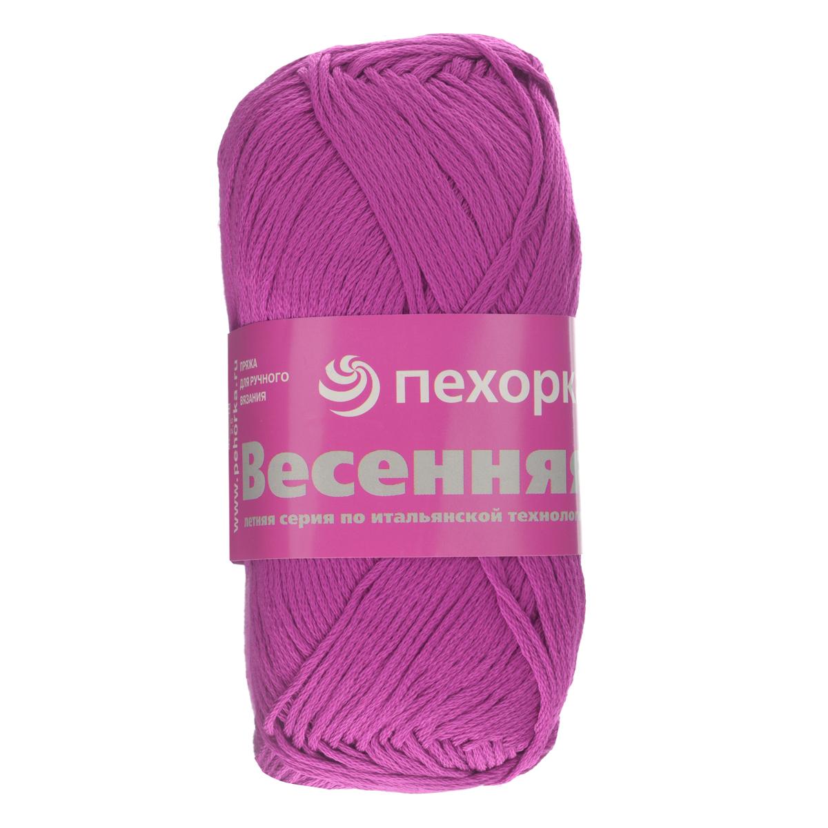Пряжа для вязания Пехорка Весенняя, цвет: темно-лиловый (87), 250 м, 100 г, 5 шт блестящее лето цвет 87 т лиловый пехорка пехорка