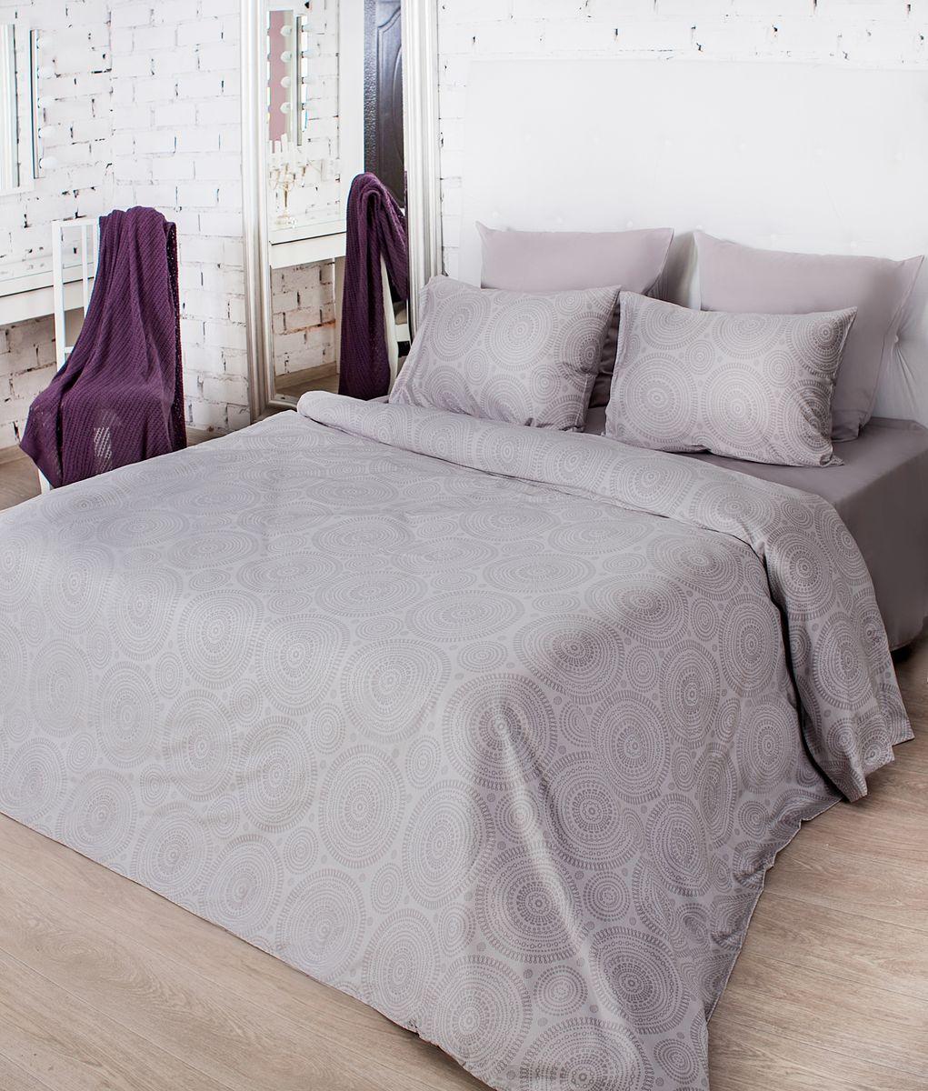 93f6b4d787770e Комплект белья La Prima Тиффани (1,5-спальный КПБ, мако-сатин,  наволочка-трансформер 50х70/70х70), серый — купить в интернет-магазине OZON  с быстрой ...