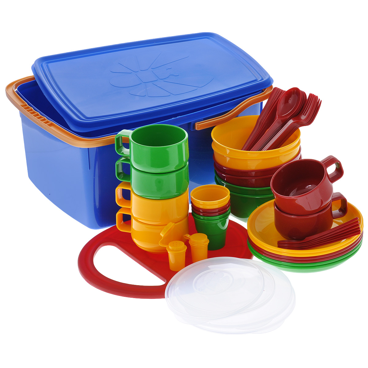 Набор посуды Solaris, в контейнере, на 6 персон виброплита vektor vpg 50b lifan л с 2 6 kh 12 40 см сек