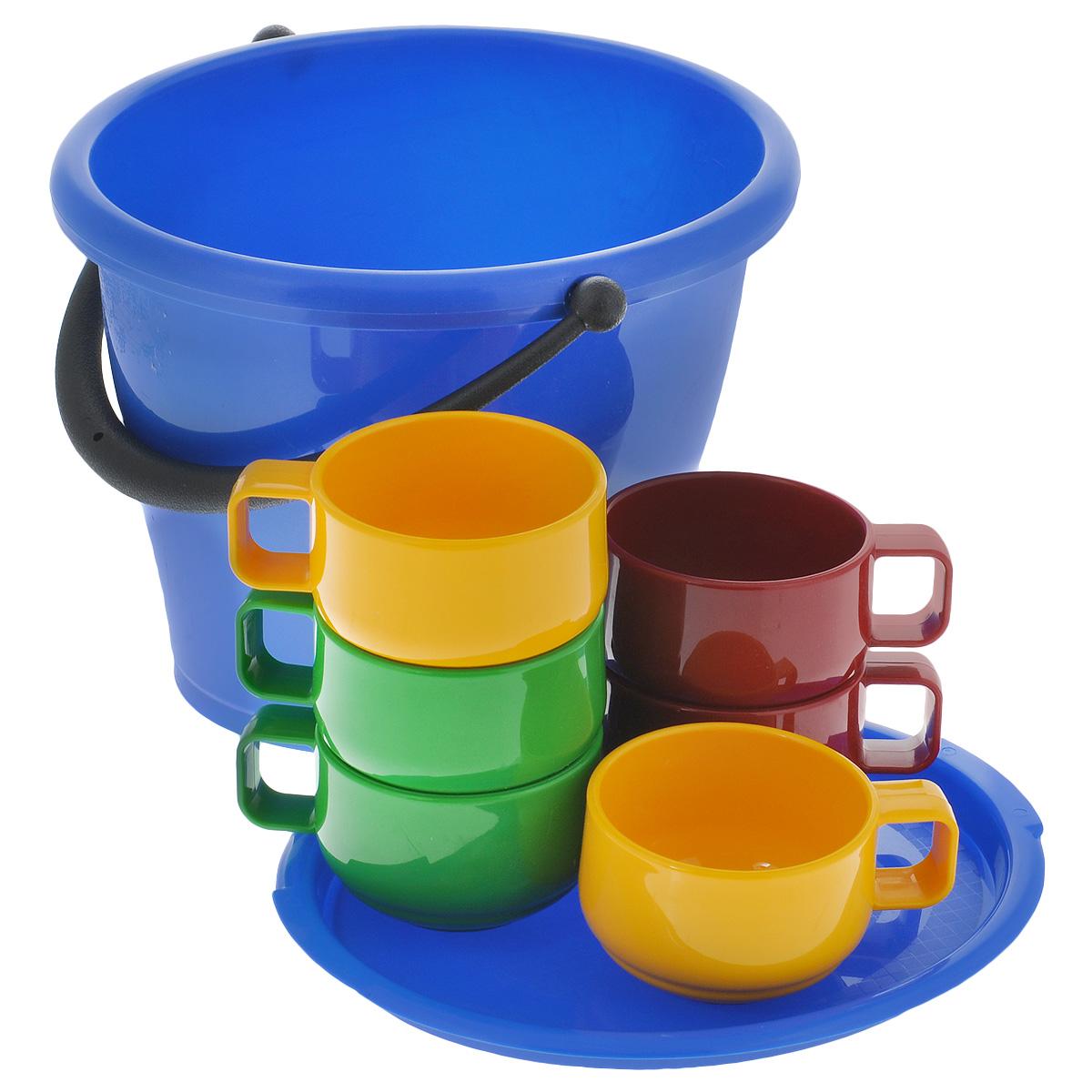 цена на Набор посуды Solaris, в ведре, 7 предметов